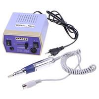 Wholesale Nail Drill Plug - NEW Electric Nail Drill Manicure Machine Tool Pedicure 6 Bits with Foot Pedal 220V(EU Plug) Free shi