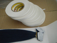 Wholesale White Glue Hair Extensions - 1cmx50m big roll strong 3M white tape adhesive tape for tape hair extensions holds 20-40days