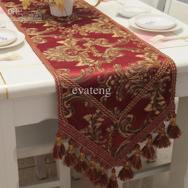 Captivating High Quality Jacquard Burgundy Table Runner Mirror Table Runner Modern Table  Runner From Evateng, $49.25| Dhgate.Com
