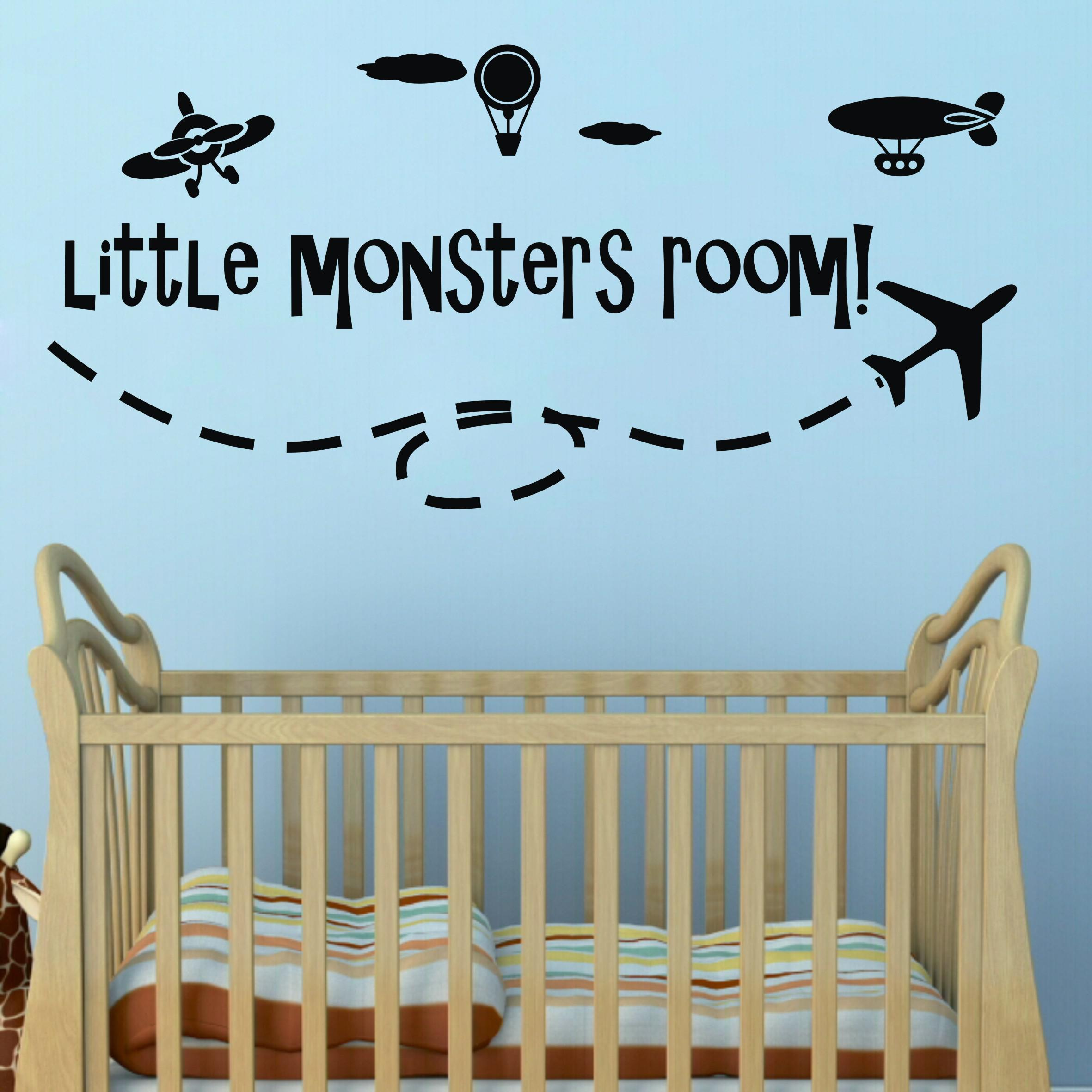 little monster wall quote decal nusery boy room lettering saying little monster wall quote decal nusery boy room lettering saying wall art sticker decor