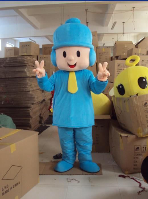 Pelúcia azul pocoyo traje do traje do filme do traje da mascote dos desenhos animados traje frete grátis
