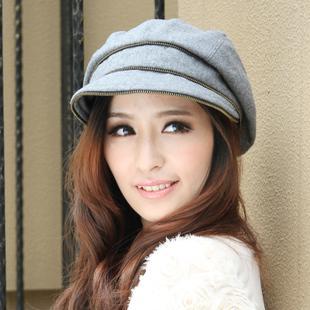 2019 Winter Hat Women s Wool Newsboy Cap Knitted Octagonal Cap From  Xiaoguichen 53837a61be7
