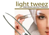 Wholesale Led Trims - Dahoc Stainless Steel LED Eyebrow Tweezers Light Eyelash Curler Tweezer Trimmer Makeup Tools 10pcs