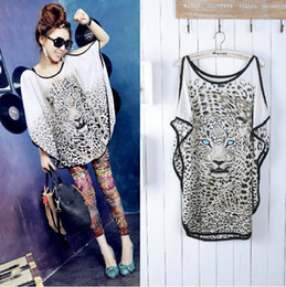 Tiger Print Tshirt Women Pas Cher-Fashion Women Tiger imprimé Tops Casual Jumper Animal Tshirt Pattern Livraison gratuite