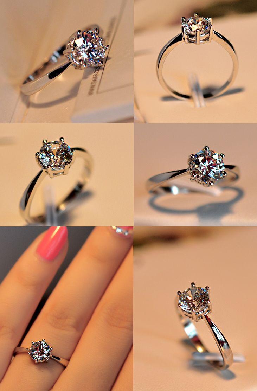 Ring Couple Ring Zircon Ring Diamond The Gem Index Finger Ring ...