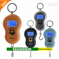 Wholesale Min Order Hang - Min Order $20 (mixed order) Retail 4 Color Cheap Portable Electronic Scales   40kg(10g) Spring Balan