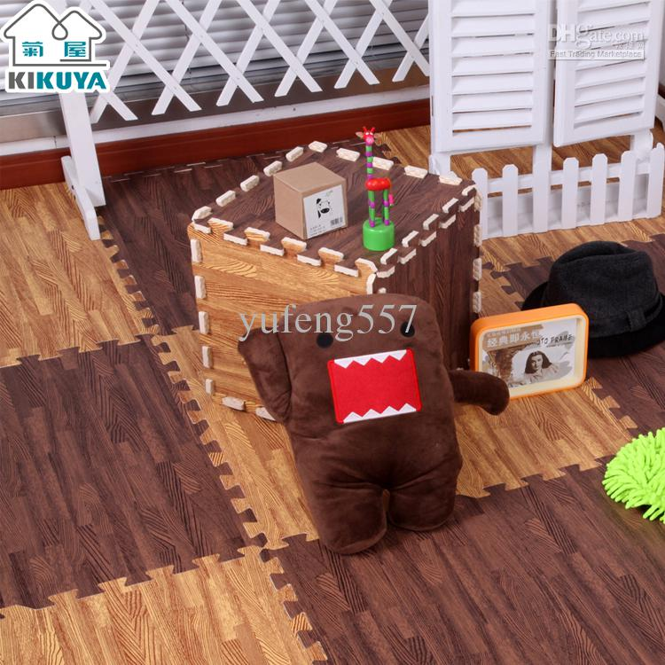 Wood Floor Padding Wood Foam Floor: 2019 Wood Grain Kikuya Mats Foam Puzzle Mats Floor Mat