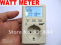 Wholesale Energy Monitor Uk - Power Meter UK Advanced WATT Power Energy kwh Voltage Meter Monitor Free Shipping