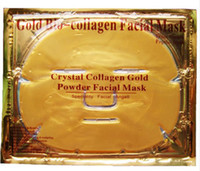 Wholesale Crystal Bio Mask - Gold Bio-Collagen Facial Mask Face Mask Crystal Gold Powder Collagen Facial Masks Moisturizing Anti-aging beauty products