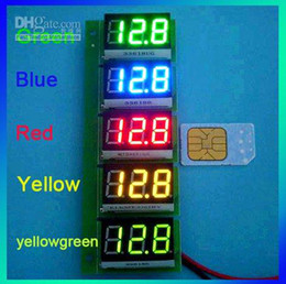 Wholesale Three Digits Voltmeter - DC 0.36 three digit Digital Panel Volt Meter DC 0-100V Yellow LED Voltmeter amperemeter-10000159