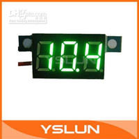 Wholesale Small Voltage Meter - Ultra Small Digital Voltmeter 3.3-17V Green Voltage Meter LED Lithium Battery Vehicles Motor Panel M