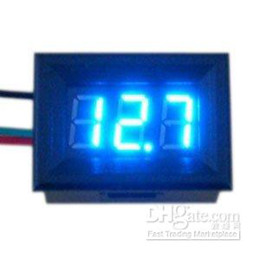 "Wholesale Motorcycle Battery Voltage Monitor - 0.36"" Voltage Monitor Meter DC 0V to 100V Blue LED Digital Panel Meter For Car Motorcycle Battery An"