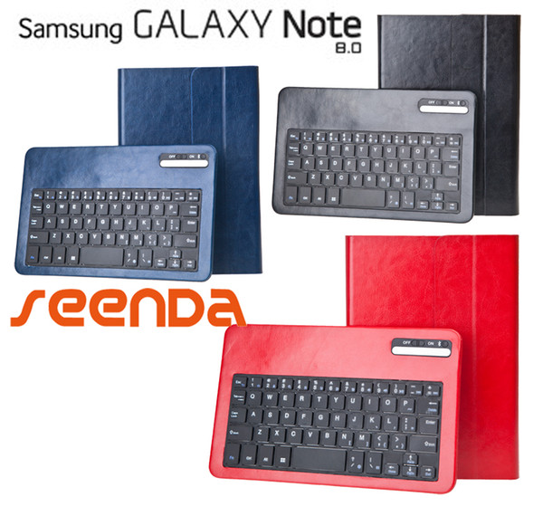 2d0696c1249 Detachable Bluetooth Keyboard Folio Case cover for Samsung Galaxy NOTE 8.0  8 N5100 N5110 rechargeable keyboard