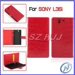 Wholesale Mobile Xperia Z - Crocodile Wallet Case for Sony Xperia Z L36i Magnetic Stand Mobile Phone Card Holder