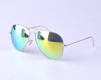 brand designer green mirror sunglasses for men women 2013 su...