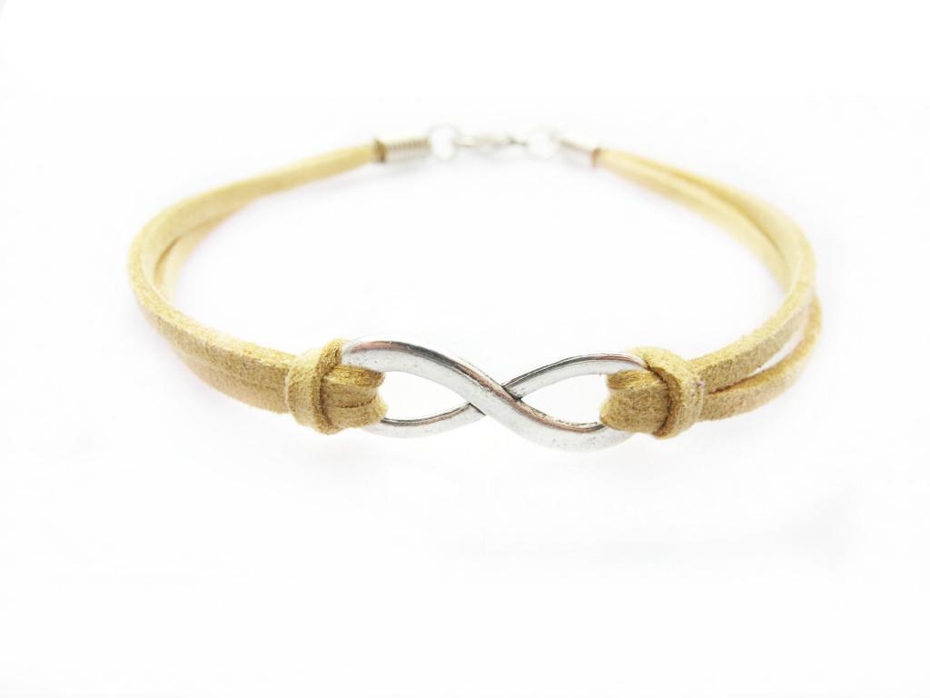 Argent ton Infinity Sign Numérique 8 Charm Bijoux Connecteurs Pendentifs 8 * 2mm Orange Bracelet