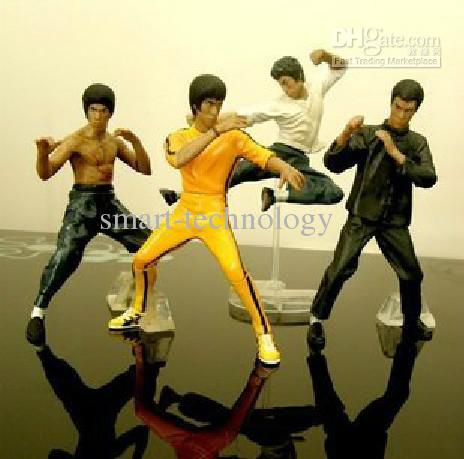 Cool Bruce Lee Kung Fu Action Figures Toy 4pcs per Set