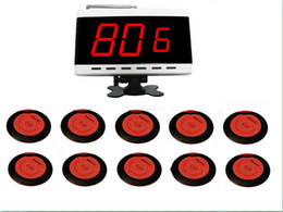 $enCountryForm.capitalKeyWord UK - SINGCALL wireless calling system for coffee shop, restaurant,hotel .10 pcs red table bells of APE700 and 1 pcs display receiver of APE9600.