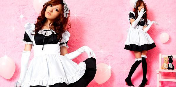 top popular Sexy Women's Cosplay Apron Dress ladys Lolita babydoll Sweet maid Girl Princess Lingerie Dress Headdress + Aprons Gloves J1260 2019