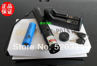 Wholesale Protable Laser - 532nm protable green red blue violet laser pointers with star cap focusable BURNING green laser torch burn cigarettes+Charger+gift box
