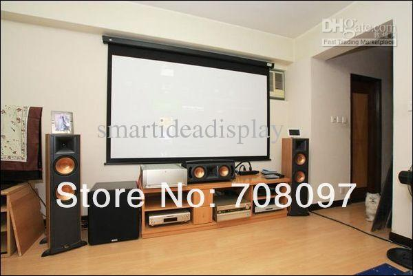 100 inch 16 9 motorized projector screen electric
