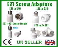 Wholesale E27 B22 Adaptor - LAMP LIGHT ADAPTOR BC B22 ES E27 E14 SES B15d SBC E40 GES GU10 G9 MR16 G24 E26