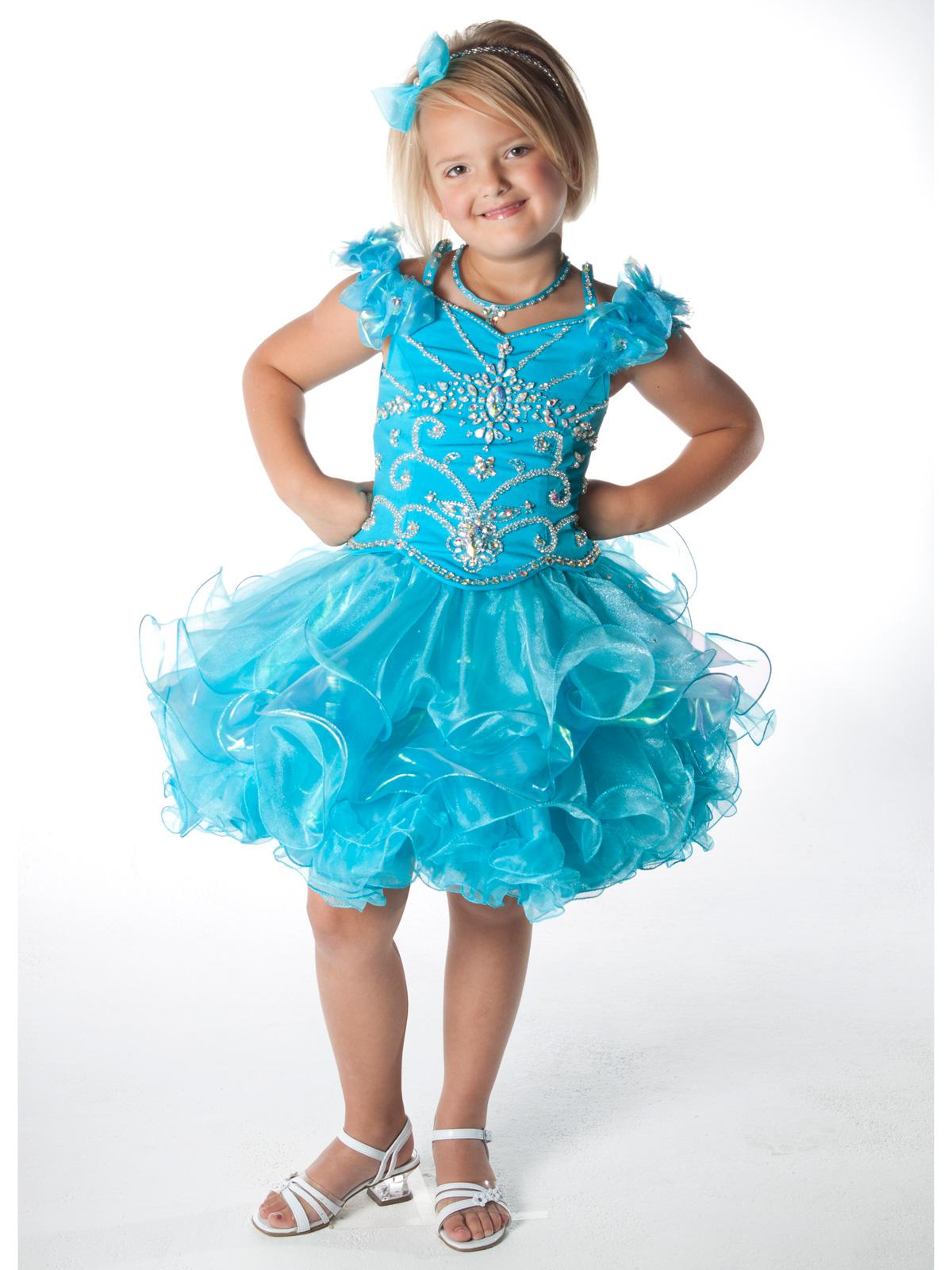 2013 New Style Sparkling Beads Crystal Kids Girl Party Dresses Ball ...