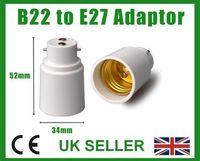 Wholesale E27 B22 Adaptor - Bayonet B22 to E27 Screw Lamp Light Bulb Socket Base Cap Converter Adaptor Holder