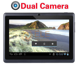 7 tablet 4gb Canada - Cheapest 7 inch Q88 dual Camera tablet pc android 4.0 Capacitive Screen 512M 4GB WIFI allwinner a13