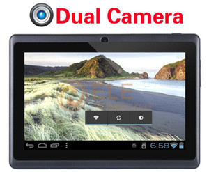 Cheapest 7 inch Q88 dual Camera tablet pc android 4.0 Capacitive Screen 512M 4GB WIFI allwinner a13