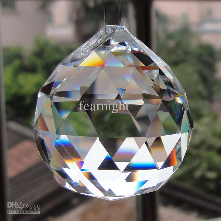 Mm Clear Faced Crystal Ball For ChandelierCurtain PendantsHome - Chandelier crystals wholesale india