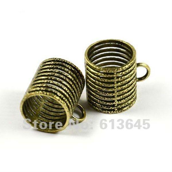 20PCS/LOT, Alloy Antique Bronze DIY Jewellery Scarf Pendant Holding Tube , Free shipping, AC0044B