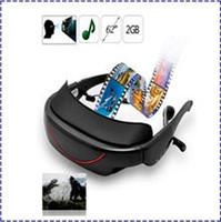 Wholesale Eyewear 72 - Portable Eyewear 72-Inch 16:9 HD Widescreen Multimedia Player VG320 3D stereo Video Glasses Virtual Theatre 4GB HDMI interface efit gift