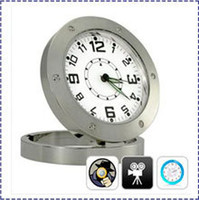 Wholesale Motion Activated Clock Video Camera Security Cam SPY NANNY Camera Alarm CLOCK Motion Sensor DVR520