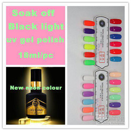 Tremper Le Gel De Couleur Poli Pas Cher-Livraison gratuite 12 Neon Couleur Black Light Soak Off Gel Polish / Uv Gel Polish / Led Gel Polish