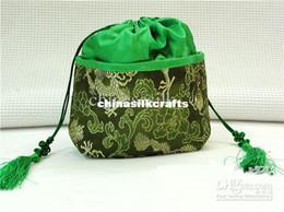 Wholesale Silk Cloth Drawstring Bags - Best Chinese Green Tea Bags Silk Cloth Drawstring Gift Packaging For Sale 10pcs lot mix color Free