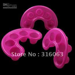 Wholesale Gel Nail Soak Off Trays - FREE SHIPPING Nail Art Tool Nail Bubble Bath Spa Bowl pink Nail Soak Off Tray Acrylic Gel NA118
