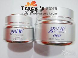 Wholesale Ezflow Clear - Free Shipping 14g EzFlow original Professional UV Nail Art Builder Gel 3 Colours CLEAR PINK WHITE 3p