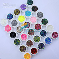 Clous Hong Kong Pas Cher-Hong Kong Post Mail Freeshipping-30 couleurs Gel UV avec Paillette Glitter Mix pour UV Nail Art Tips Ex