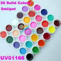 Hong Kong Post Courrier Livraison gratuite-30 Solid Colors Gel UV Nail Art UV Conseils Extension Décoration #U