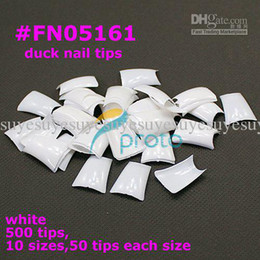 Wholesale Duck Feet Tips - FREESHIPPING 500 Special Duck Feet french nail art tips half cover