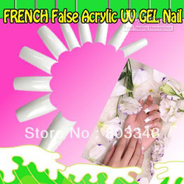Wholesale Acrylic Oval Nail Tips - High Quality 500pcs WHITE FRENCH False Acrylic UV GEL Nail Tips, 1 set as minume order, fast & free