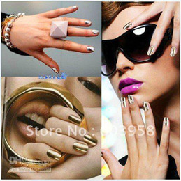 Wholesale Metal Fashion Nail Patch - Freeshipping Lady GaGa Metal fashion nail patch nail art sticker nail foils