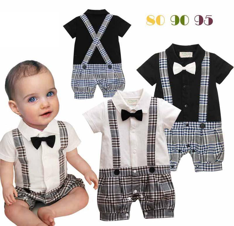 Best infant boy rompers with bow tie baby one piece romper for Baby shirt and bow tie