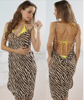 Wholesale Low Price Suspenders - Lady Beach Scarf Sarong Suspenders Zebra Style 2013 Summer Low Price 10PCS Lot Free Shpping 130323J4