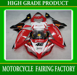 Kit de justo para Yamaha YZFR1 07 08 YZF-R1 07 YZF R1 2007 2008 Fairings Santander Red White Body Rx5Z