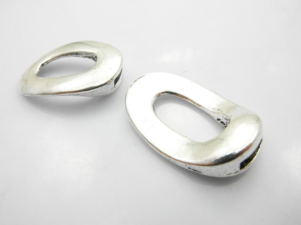 Antiqued Silver Zinc Alloy Hook Clascs voor Lederen Armband / Gratis verzending