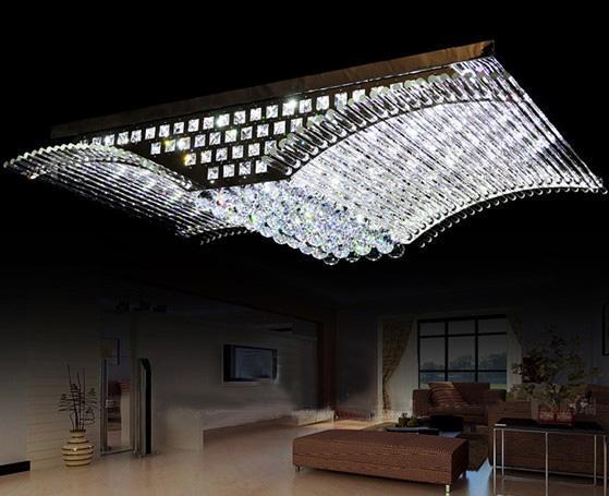 Cristal K9 de luxe à la mode moderne LED Mirs ailes plafonnier lustre salon lumières