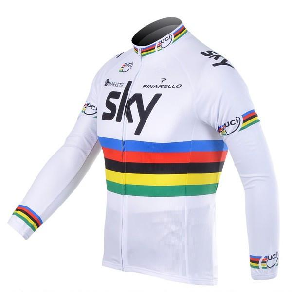 2012 Sky Uci Team Cycling Jersey Long Sleeve Only Cycling Clothing