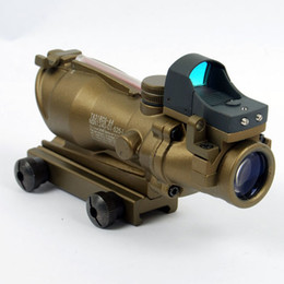 Wholesale Acog Auto - Tactical TA31 ACOG 4X32 Rifle Scope with Auto Red Dot ACOG TA31 4X32 scope Tan